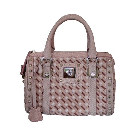 With Versace Purse by Versace Suede Velvet And Riboon Woven Handbag With Snake