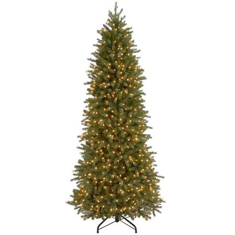 home depot garden club fraser fir national tree company 7 5 ft jersey fraser fir artificial pencil slim tree with clear