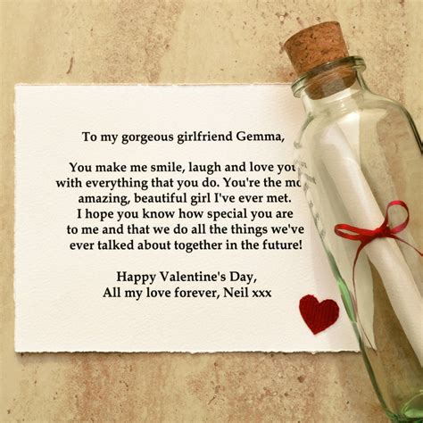 message in a bottle valentines gift personalised message valentines gift by arnott cards