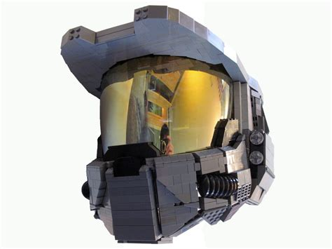 How To Make A Master Chief Helmet Out Of Paper - wearable lego master chief helmet from halo geektyrant