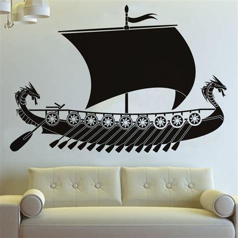 decorative boat decals long dragon viking ship wall sticker living room wall