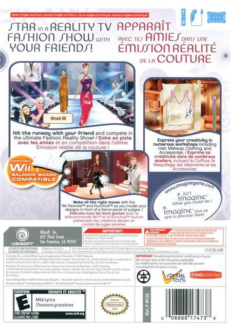 Wii Fashion by Imagine Fashion Box For Wii Gamefaqs