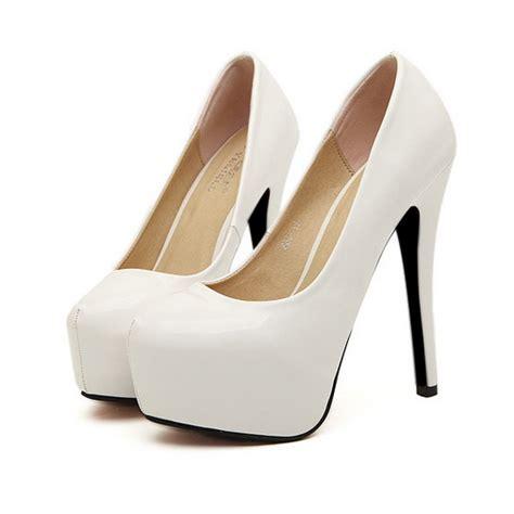 womens white high heels womens platform pumps stilettos solid white