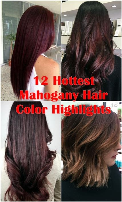 mahogany hair with high lights 12 hottest mahogany hair color highlights for brunettes