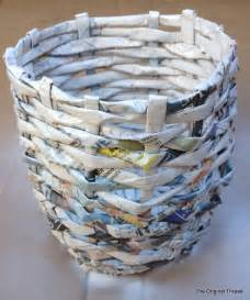 Make A News Paper - diy recycled newspaper mini basket theoriginalthread