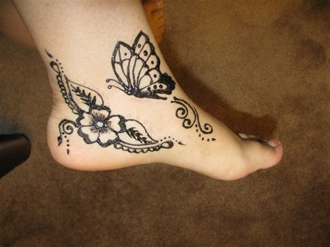 butterfly henna tattoo designs henna style butterfly makedes