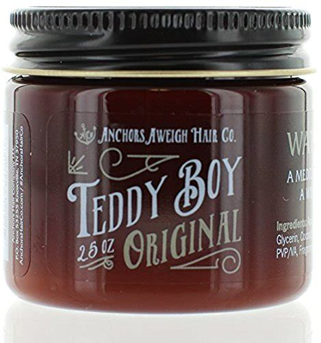 Teddy Boy Original 4 5oz anchors hair company strong hold water based styling pomade