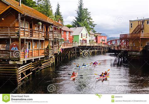 ketchikan alaska 922014 summer tour guides for ships photos alaska kayaking creek street editorial image image 29000070