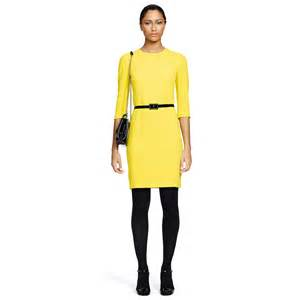 ralph lauren black label camree dress in yellow lyst