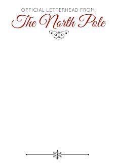 Official Letterhead Paper Official Letterhead Of The Pole Great For Letters From Santa Or Elves On The Shelf