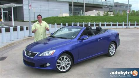 lexus convertible 2011 2012 lexus is 250 c convertible car review youtube