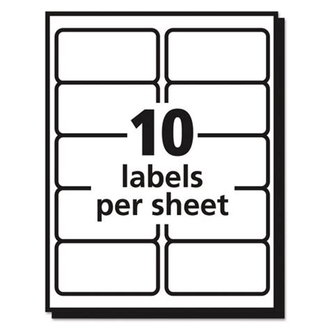 template for avery labels 14 per sheet ave8663 avery clear easy peel shipping labels zuma