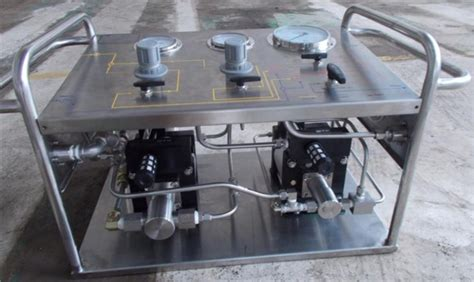 hydrostatic test bench hydrostatic pressure test bench air liquid booster pump
