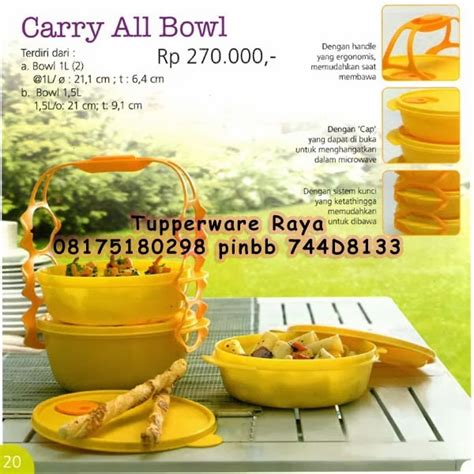 Tupperware Carry All Bowl tupperware raya katalog tupperware promo januari 2014