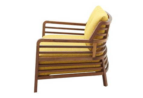 Armchairs Checked Fabric Chair Made Of Natural Wood In Flax Fabric Ligne Roset