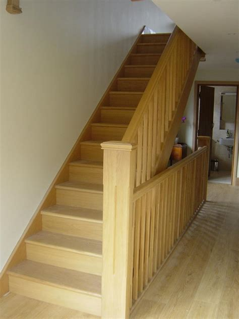 oak banister rail white oak banister stair parts in oak loft stairs