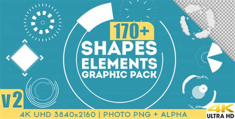 design elements of motion media and information shapes elements graphic pack by ouss videohive