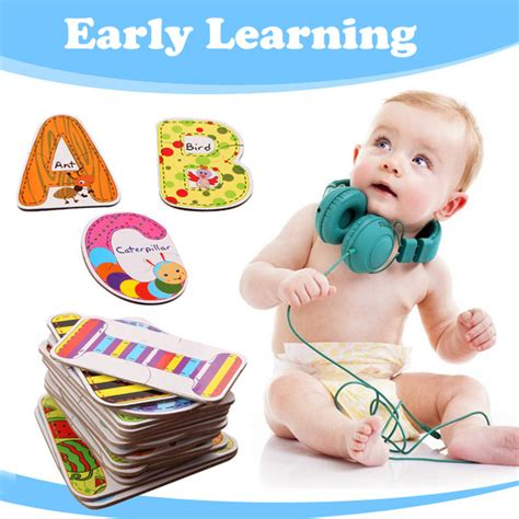 Baby Early Learning Card 1 Set baby toys a z 26pcs letters puzzles cards for children colorful educational toys alphabet