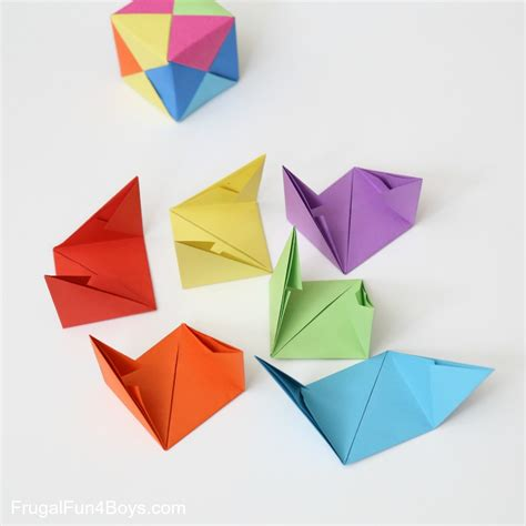 Origami Cube 6 Pieces - how to fold origami paper cubes