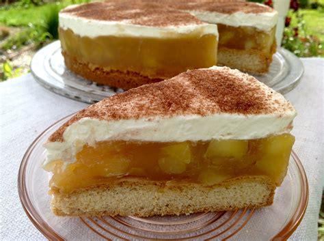 apfel cidre kuchen apfel cidre torte mit schmand und sahne