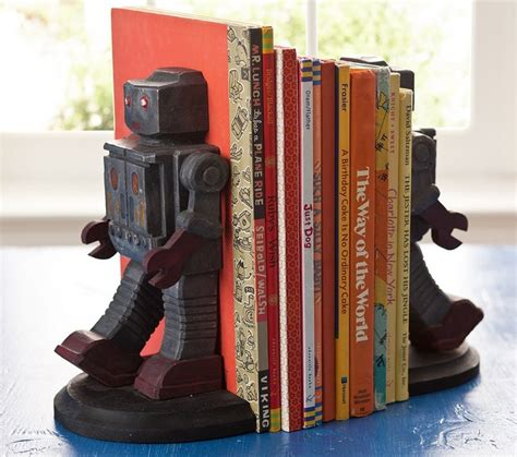 Robot Bookends Pottery Barn Kids Traditional Kids Bookends For Rooms