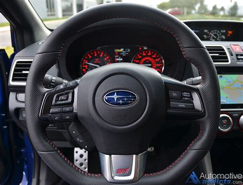 subaru steering wheel 2016 subaru wrx sti limited review test drive