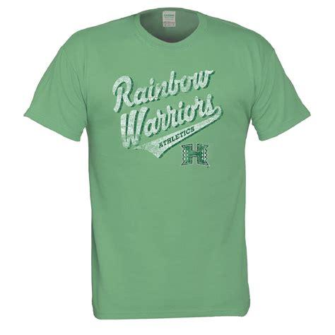 Nannercat Rainbows T Shirt For Mens ncaa s t shirt hawaii rainbow warriors kmart