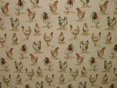 Vintage Upholstery Fabric Uk by Chicken Hens Vintage Linen Look Animal Print Designs