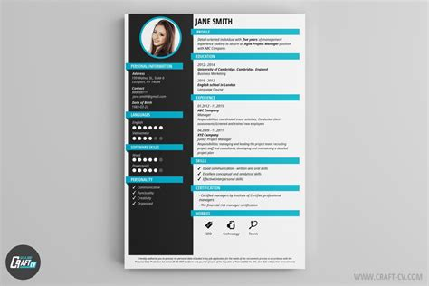 Creative Cv Templates by Resume Builder Creative Resume Templates Craftcv