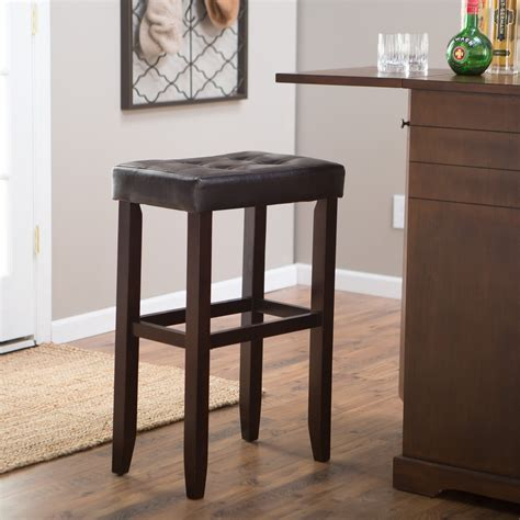 32 Inch Stool by Palazzo 32 Inch Saddle Bar Stool Brown Bar