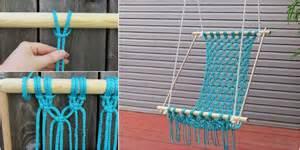 macrame swing chair how to diy macrame hammock chair stylesidea