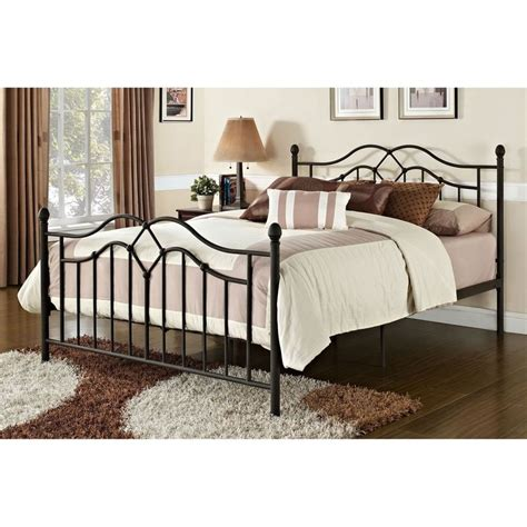 metal headboard and footboard queen size brushed bronze metal bed with headboard and