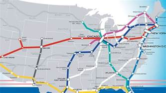 high speed rail map a beautiful vision of an american high speed rail map