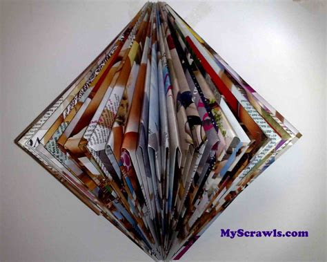 Magazine Paper Craft - paper craft wall hanging my scrawls