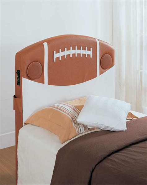 headboard speakers homelegance fantacy land twin football speaker headboard