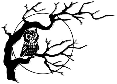 onlinelabels clip art owl in tree