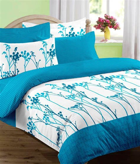 double bed sheets raymond revival double bed sheet with 2 pillow covers blue
