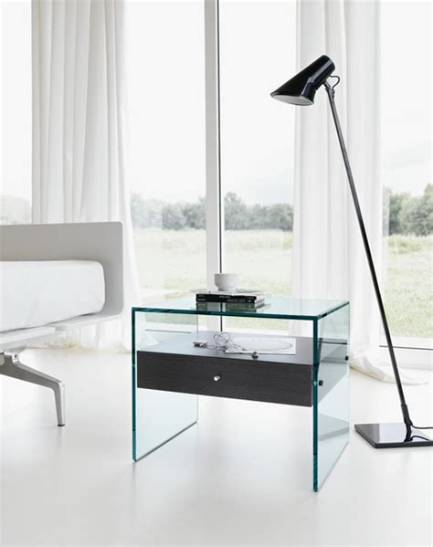 designer nachttisch aus glas nachttisch aus glas secret by tonelli design