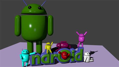 android model android family blender 3d model