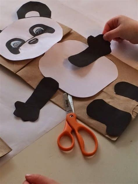 Make A Paper Bag Puppet - 14 panda craft ideas for to make