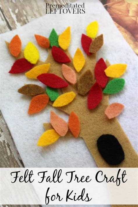 freefalling the courage to jump start your books fall felt tree craft for tutorial