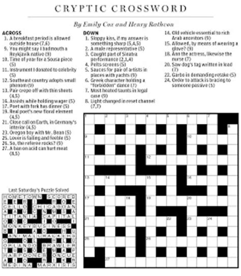 crossword setter definition national post cryptic crossword forum saturday november