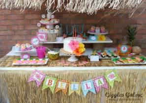 Backyard Luau Ideas Luau Birthday Giggles Galore