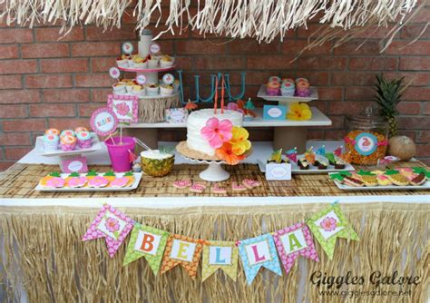 luau backyard party ideas luau birthday party giggles galore