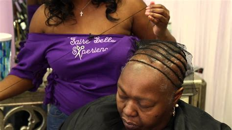 hair salons that specialize in alopecia in rockford il faire belle salon exclusive alopecia weave tutorial youtube