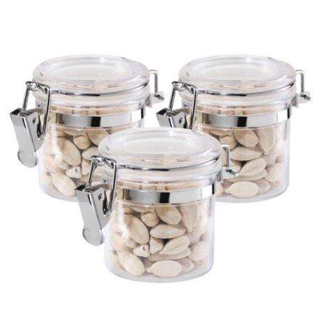 3 acrylic airtight canisters mini walmart