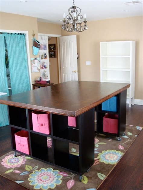 diy craft room table 20 creative craft room organization ideas tip junkie