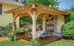 Pergola With Fireplace by Top 20 Pergola Designs Plus Their Costs Diy Home