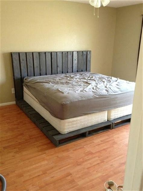 how to build a pallet bed pallet addicted 30 bed frames made of recycled pallets