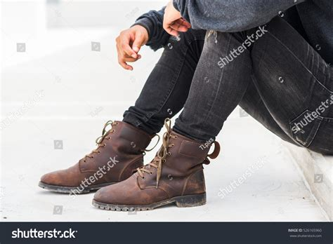 Official Winter Shoes Massimo Italiano Brown Formal Shoes Fashion Leather Boots View Stock Photo 526165960